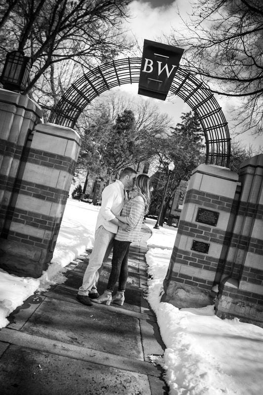 Photo of couple kissing Baldwin Wallace College