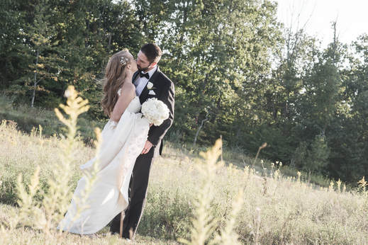 Akron Wedding Photo of a bride and groom at Blue Heron