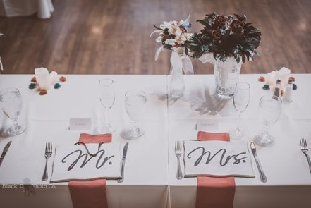 Photo of details for a wedding reception at Mapleside Farms