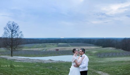 Wedding photo of a beautiful view at Mapleside Farms