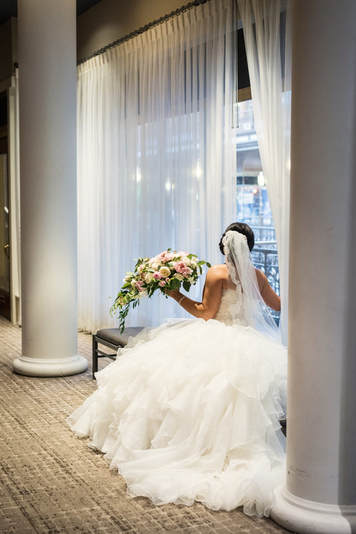 Bride at the Cleveland Arcade.