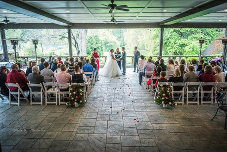 Wedding ceremony photo at the Club at Hillbrook